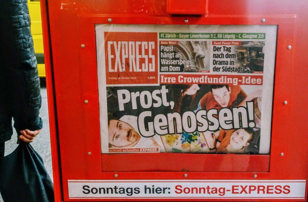 Trink-Genosse im EXPRESS