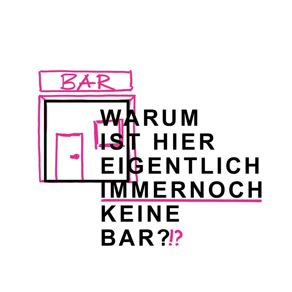 Warum ist hier eigentlich immer noch keine Bar?!?