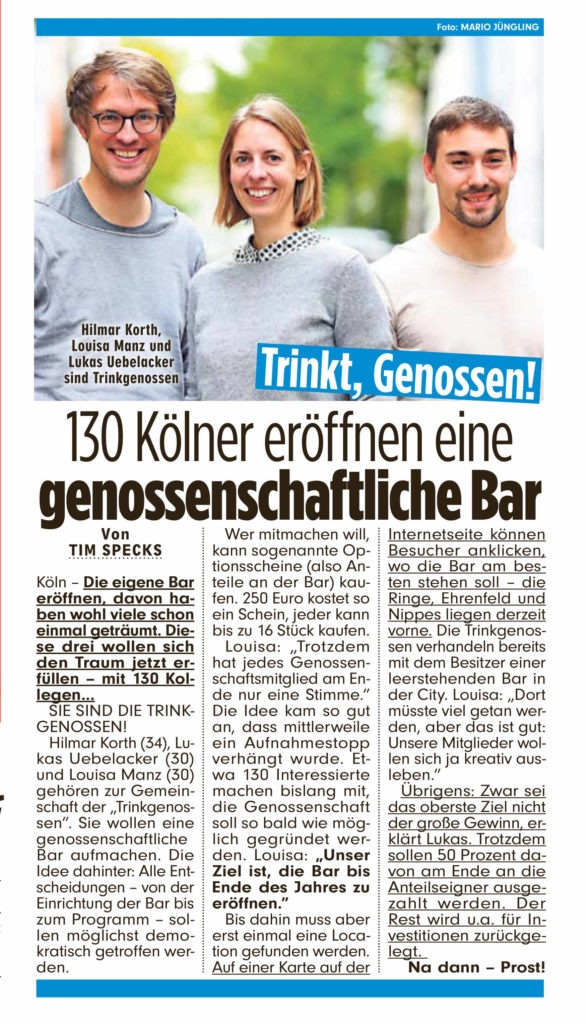 Artikel BILD Köln, 05. August 2019, S. 11