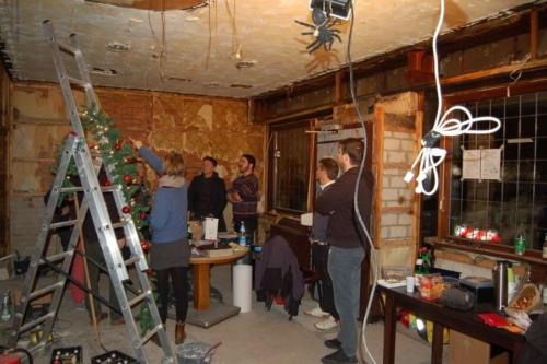 Baustellenbegehung am Adventssonntag